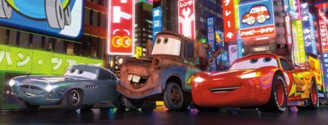 Szene aus dem Disney Pixar Animationsspaß Cars 2