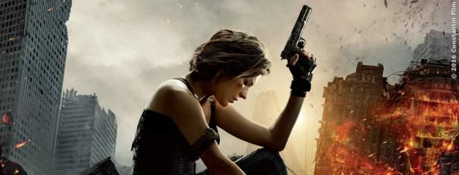 Milla Jovovich als Alice auf dem Resident Evil 6 Plakat