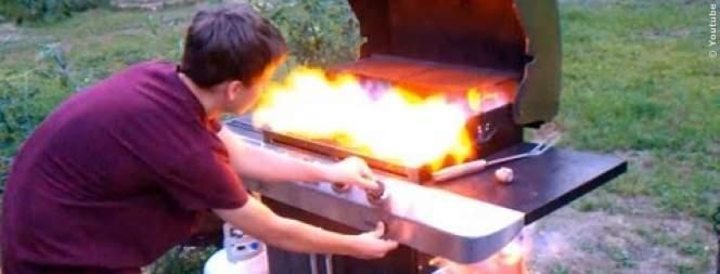 Grillen mit Gas: Gasgrill explodiert