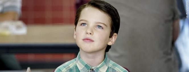 Young Sheldon mit Big Bang Theory-Figuren als Kinder