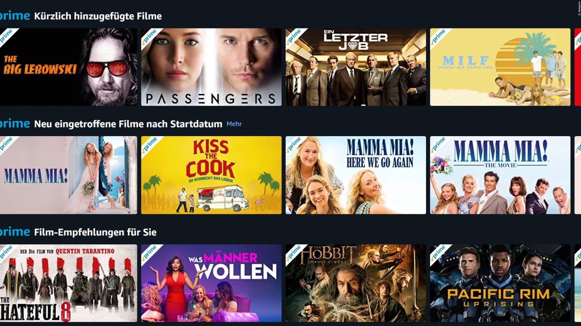 Amazon Prime Kostenlose Filme