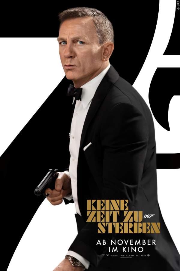 Das Poster zum 25. James Bond Fim Keine Zeit zu sterben